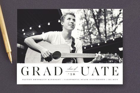 Side by Side Graduation Announcements