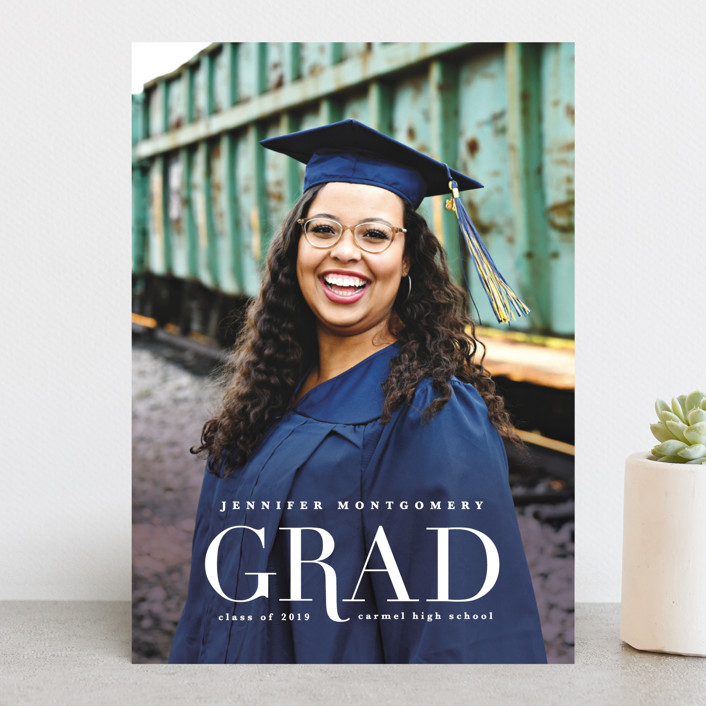 """""""Rosy Glow"""" - Graduation Announcements in Mocha by Creo Study."""