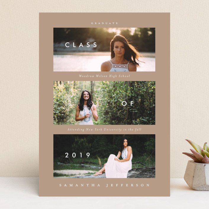"""Solid Success"" - Modern Graduation Announcements in Classic by Susanne Kasielke."