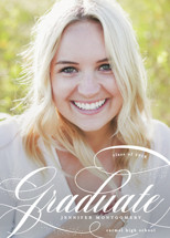 Glam quotient Graduation Announcements