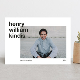 Modern Alignment Graduation Announcements