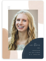 This is a brown graduation announcement invitation by Leah Bisch called Painterly Frame with standard printing on smooth signature in standard.
