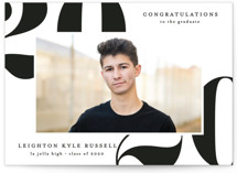 This is a white graduation announcement invitation by Erica Krystek called Big Year with standard printing on smooth signature in standard.