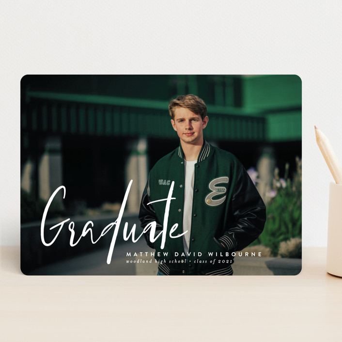 """""""Ambition"""" - Modern Graduation Announcements in Salt by Jessica Williams."""