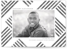 This is a grey graduation announcement invitation by Paper Sun Studio called Making Tracks with standard printing on smooth signature in standard.