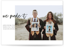 This is a white graduation announcement invitation by Kristel Torralba called Made It! with standard printing on smooth signature in standard.