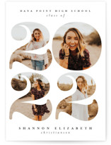 This is a white graduation announcement invitation by Joanna Griffin called Biggest Year with standard printing on smooth signature in standard.