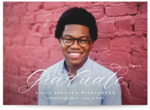 This is a white graduation announcement invitation by Lauren Chism called Announce with standard printing on smooth signature in standard.