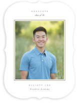This is a brown graduation announcement invitation by Sara Hicks Malone called Effortless with standard printing on smooth signature in standard.
