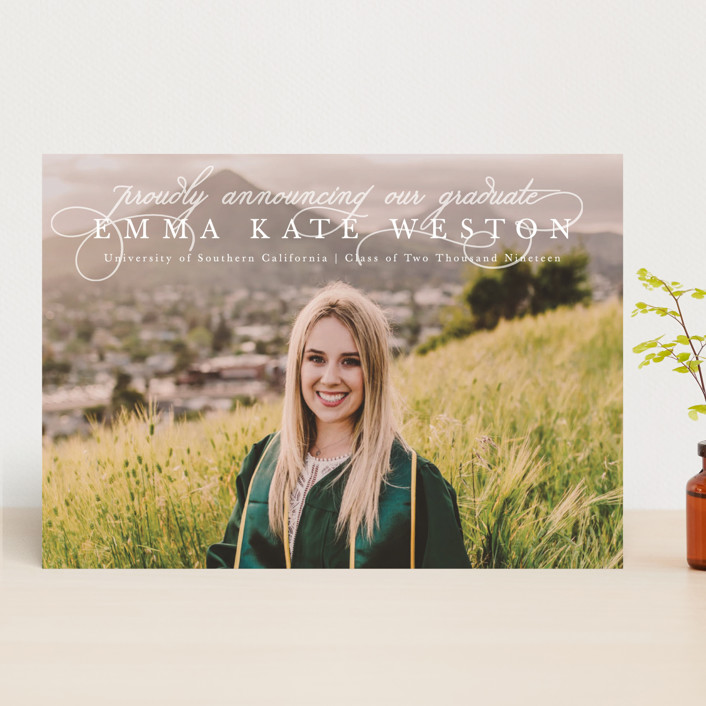 """""""Proudly Announcing"""" - Graduation Announcements in Pearl by Kasia Labocki."""