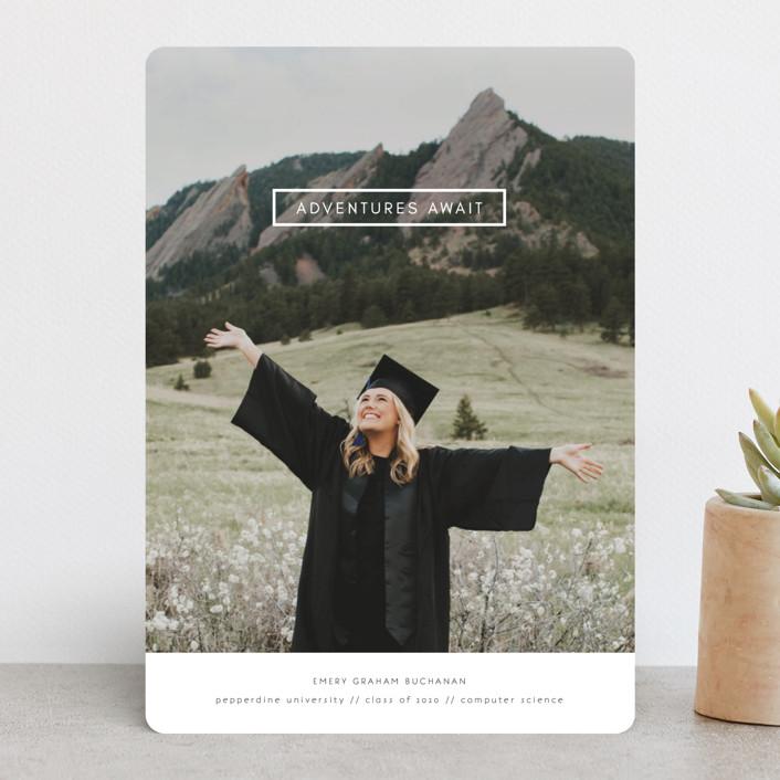 """Digital Style"" - Modern Graduation Announcements in Cloud by Kann Orasie."