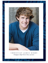 This is a blue graduation announcement invitation by Lea Delaveris called Plaid framed with standard printing on smooth signature in standard.