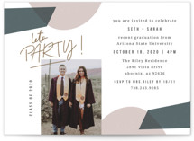 This is a brown graduation announcement invitation by Summer Winkelman called Let's Party with standard printing on smooth signature in standard.
