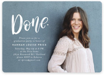 This is a white graduation announcement invitation by Amy Payne called All Done with standard printing on smooth signature in standard.