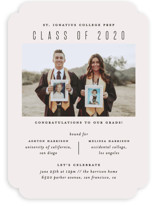This is a white graduation announcement invitation by jomolo called Classic Hoorah with standard printing on smooth signature in standard.