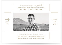 This is a brown graduation announcement invitation by Creo Study called Focal point with standard printing on smooth signature in standard.