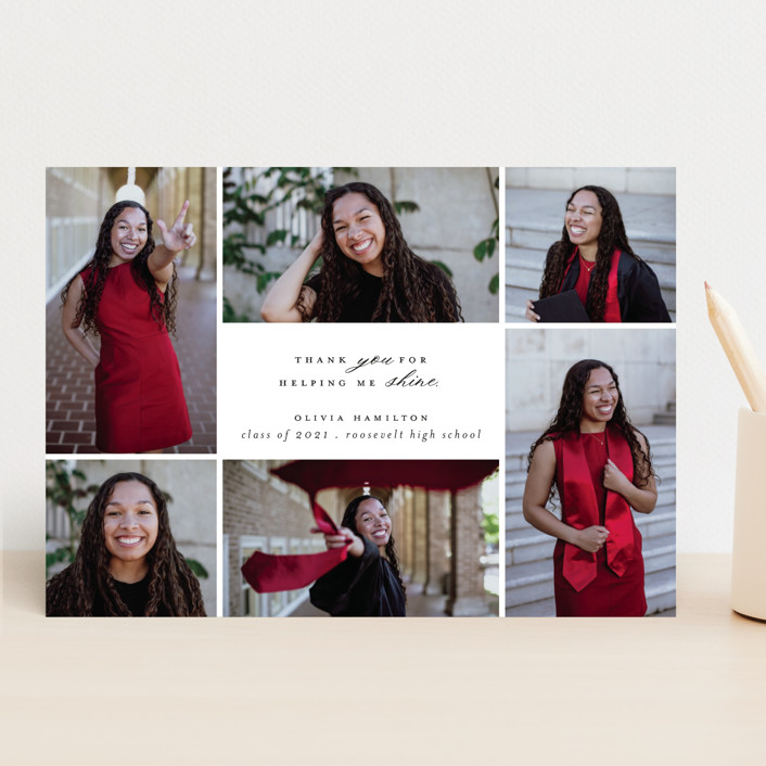 """Shine Bright"" - Graduation Announcements in Blackboard by Hudson Meet Rose."