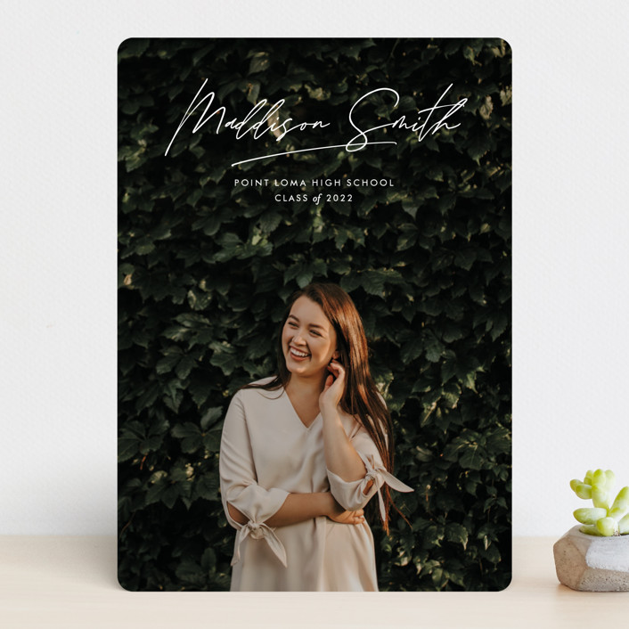 """""""Signed Sealed Delivered"""" - Modern Graduation Announcements in Cloud by annie clark."""