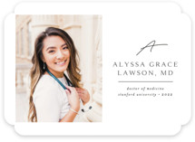 This is a white graduation announcement invitation by Kristel Torralba called Traditionally Mod with standard printing on smooth signature in standard.
