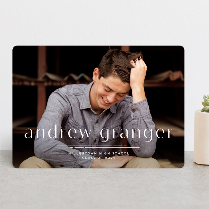 """""""Dashing"""" - Preppy Graduation Announcements in Cotton by Amy Payne."""