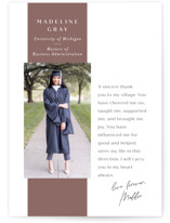 This is a pink graduation announcement invitation by Amy Payne called Heartfelt Thanks with standard printing on smooth signature in standard.
