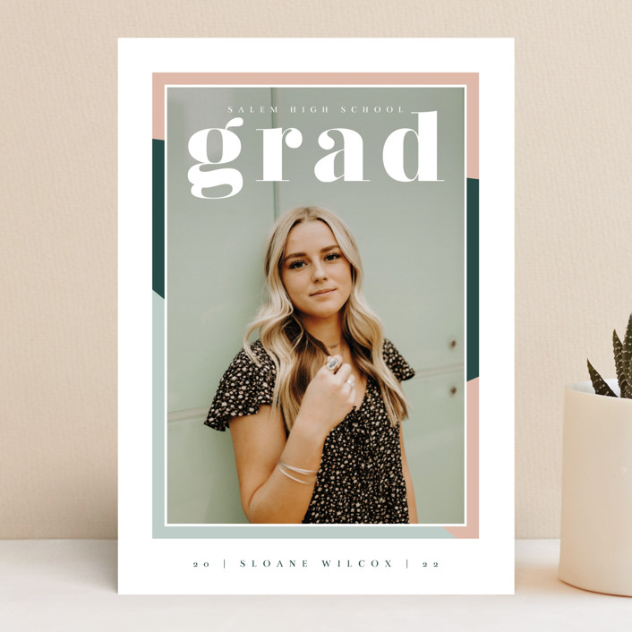 """""""Up Next"""" - Modern Graduation Announcements in Sorbet by Danie Romrell."""