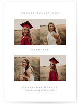 This is a grey graduation announcement invitation by Jackie Mangiolino called From Here To There with standard printing on smooth signature in standard.