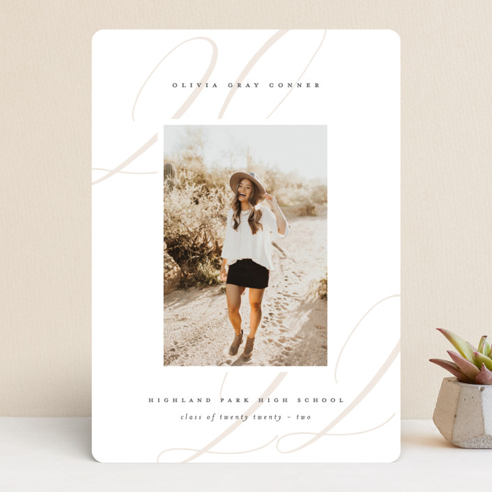 """""""Softest"""" - Graduation Announcements in Putty by Lauren Chism."""