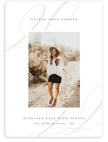 This is a white graduation announcement invitation by Lauren Chism called Softest with standard printing on smooth signature in standard.