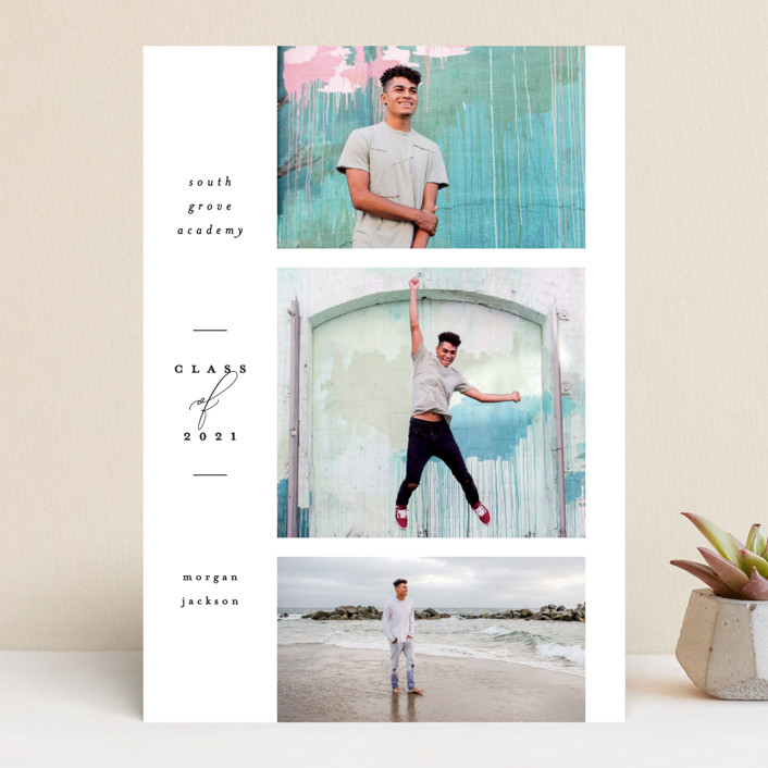 """""""Photo Reel"""" - Graduation Announcements in Cotton by Everett Paper Goods."""