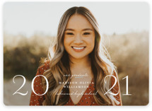 This is a white graduation announcement invitation by Lauren Chism called The Middle with standard printing on smooth signature in standard.