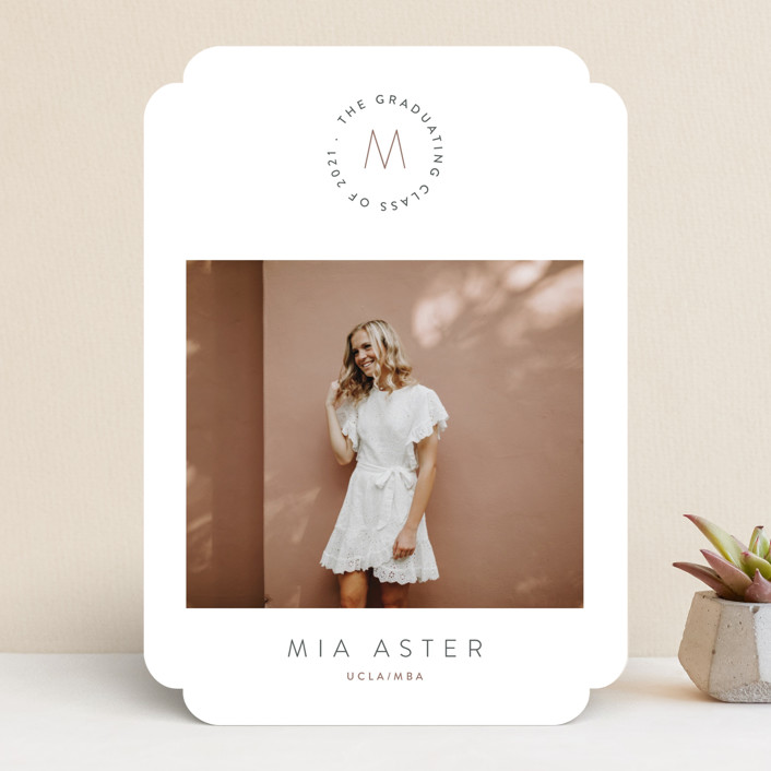 """""""Monogram"""" - Preppy Graduation Announcements in Valley by Owl and Toad."""