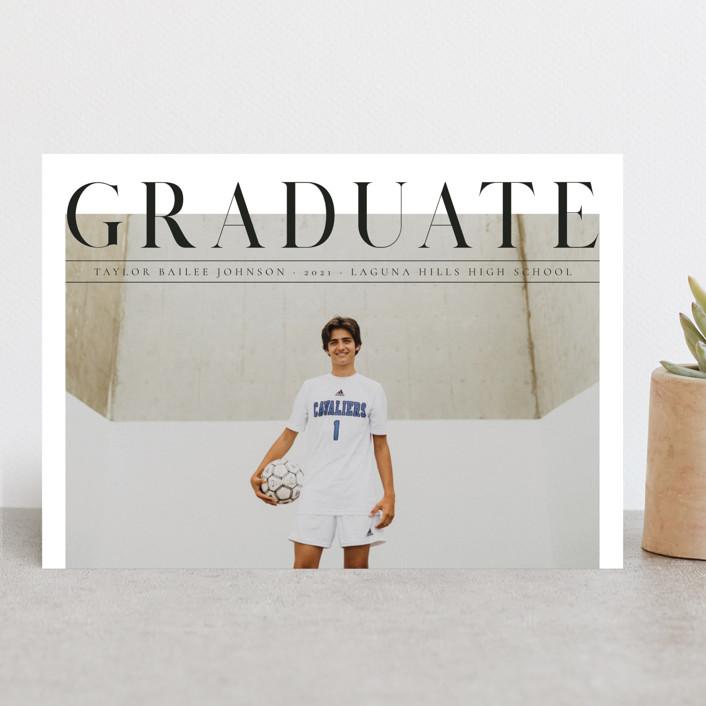 """Bold headline"" - Modern Graduation Announcements in Cloud by Kann Orasie."
