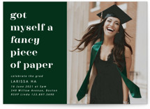This is a green graduation announcement invitation by Catherine Culvenor called Fancy with standard printing on smooth signature in standard.