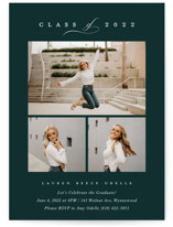 This is a green graduation announcement invitation by Carolyn MacLaren called Multi Classic with standard printing on smooth signature in standard.