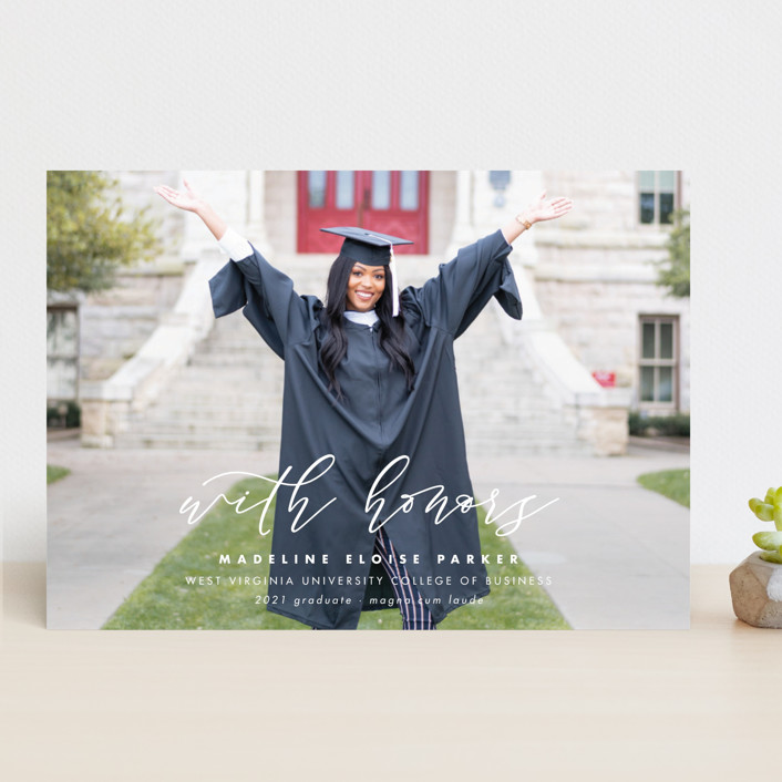 """Honored"" - Graduation Announcements in Paper by Lea Delaveris."