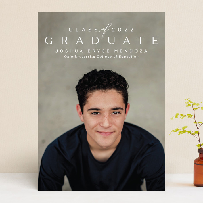 """Forward"" - Graduation Announcements in Chalk by Lea Delaveris."
