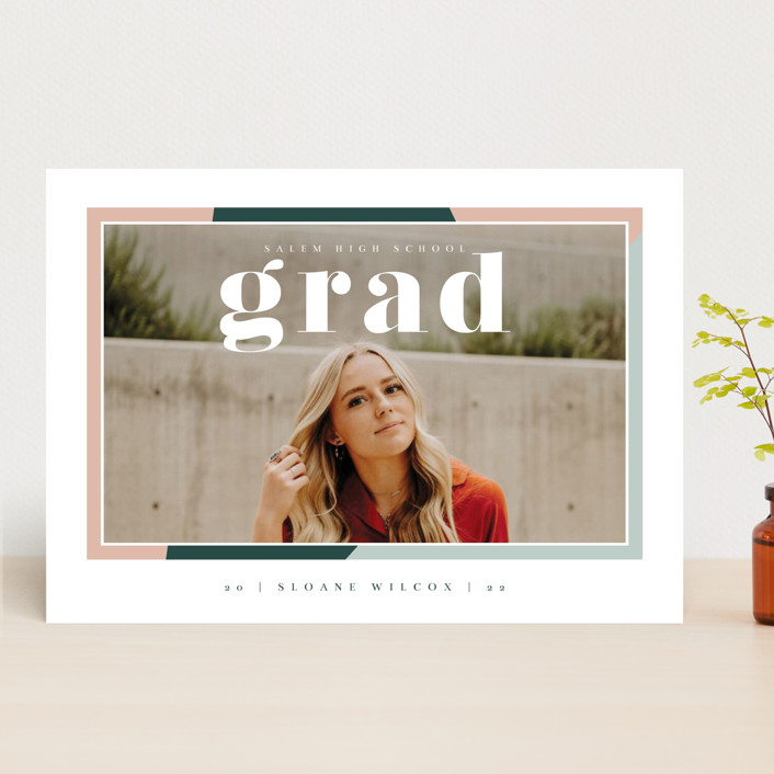 """Up Next"" - Modern Graduation Announcements in Sorbet by Danie Romrell."