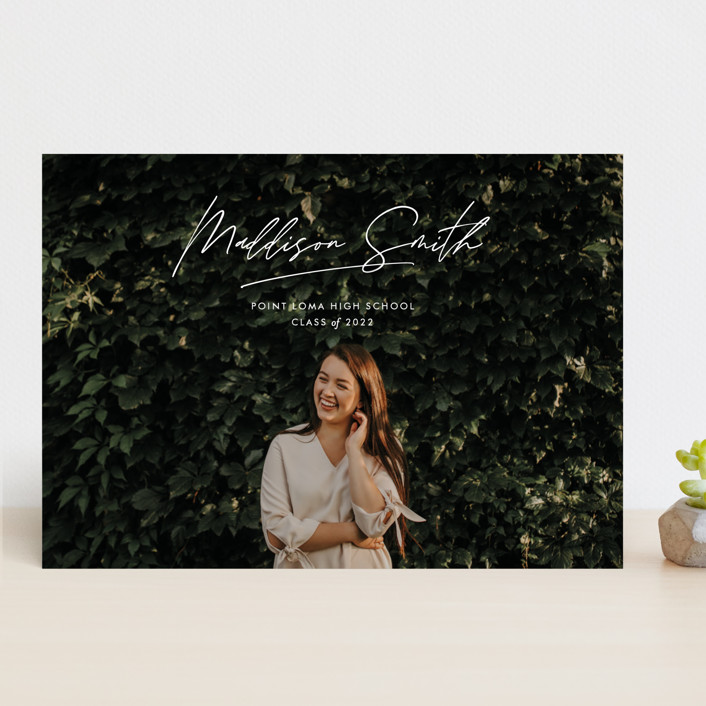 """Signed Sealed Delivered"" - Modern Graduation Announcements in Cloud by annie clark."