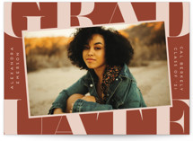 This is a orange graduation announcement invitation by Erica Krystek called Snapshot with standard printing on signature in standard.