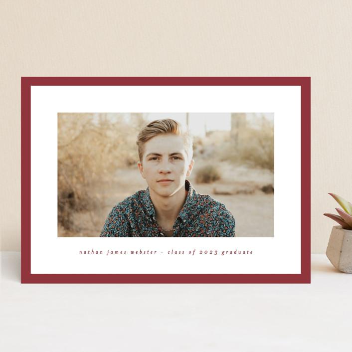 """Wrapped"" - Graduation Announcements in Brick by Lea Delaveris."