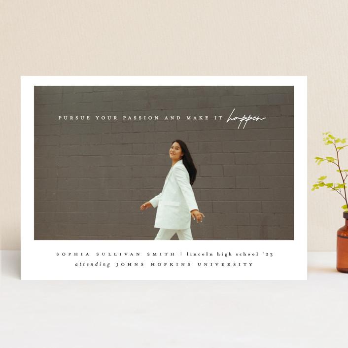 """""""pursue your passion"""" - Graduation Announcements in Black Tie by Ana de Sousa."""