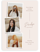 This is a beige graduation announcement invitation by Ekko Studio called Snapshot Collage with standard printing on signature in standard.