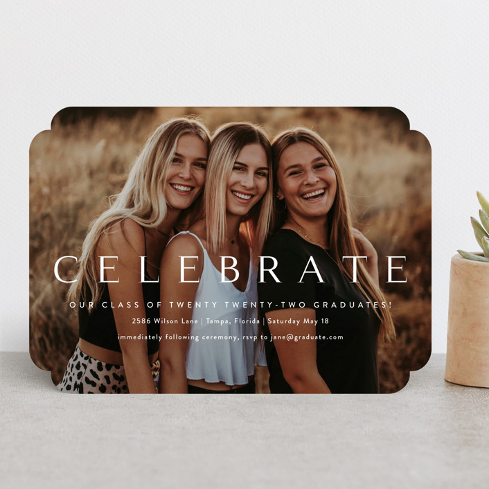 """Celebration"" - Graduation Announcements in Cotton by Kasia Labocki."
