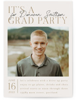 This is a brown graduation announcement invitation by Ashlee Townsend called Grad Celebration with standard printing on signature in standard.