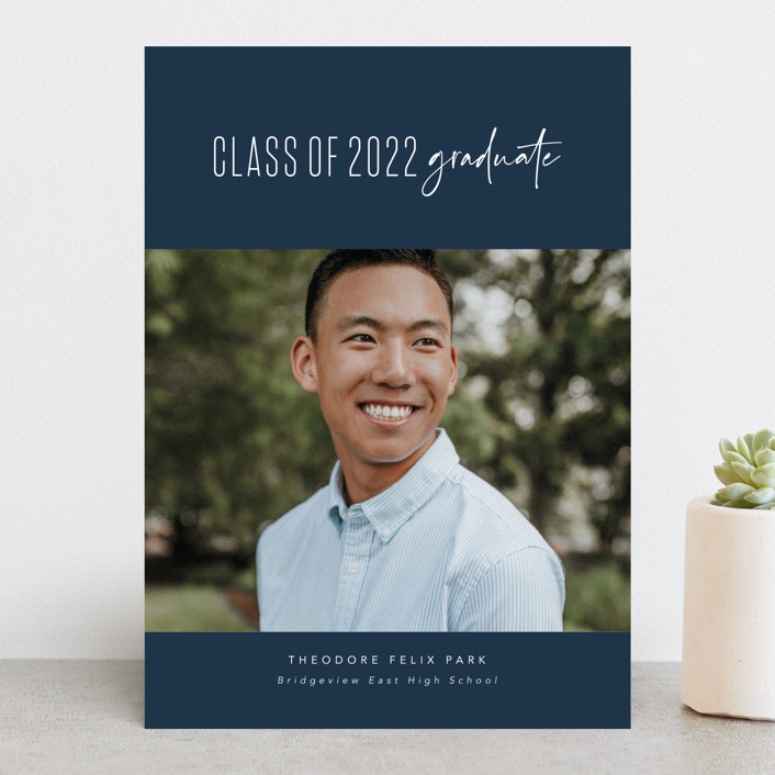 """""""One and done"""" - Graduation Announcements in Jeans by Lea Delaveris."""