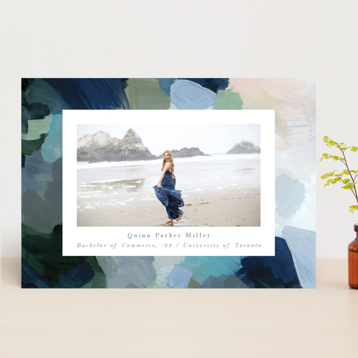 """""""abstraction"""" - Graduation Announcements in Ocean by Nicole Walsh."""