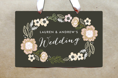 Botanical Wreath Party Greeting Signs