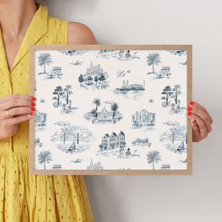"""San Francisco Modern Toile by Surface Love: 11"""" x 14"""" @ $66.00"""