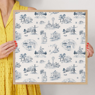 """Texas Modern Toile by Surface Love: 16"""" x 16"""" @ $70.00"""